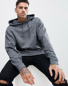 Oversize-худи темно-серой меланжевой расцветки ASOS DESIGN - Серый