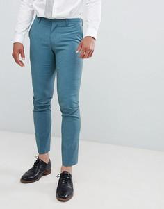 Зеленые брюки зауженного кроя Selected Homme - Зеленый