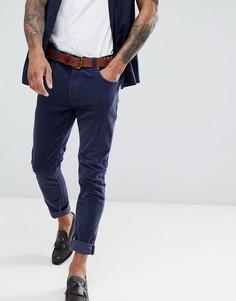 Rollas tim slim corduroy trousers - Синий