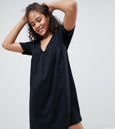 Свободное хлопковое платье ASOS DESIGN Tall Ultimate - Черный