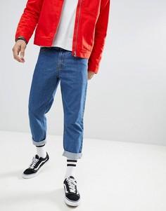 Синие расклешенные джинсы boohooMAN - Синий