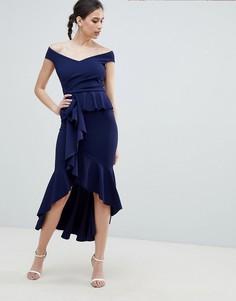 Платье макси с плиссировкой City Goddess - Темно-синий