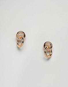 Серьги-кольца Weekday - Золотой