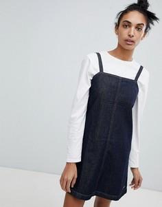 Джинсовое платье-комбинация А-силуэта Calvin Klein Jeans - Синий