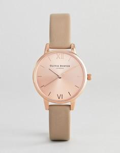 Часы с кожаным ремешком Olivia Burton OB16MD88 Sunray - Розовый