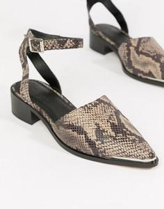 Туфли на плоской подошве с острым носом ASOS DESIGN Mamba - Мульти