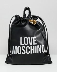 Рюкзак с логотипом Love Moschino - Черный