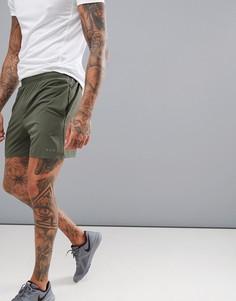 Спортивные шорты цвета хаки средней длины ASOS 4505 - Зеленый