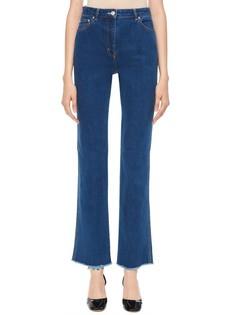 Укороченные джинсы-клеш с необработанным краем Sonia by Sonia Rykiel