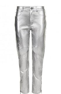 Укороченные кожаные брюки Ralph Lauren