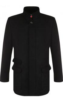 Кашемировая куртка на молнии с воротником-стойкой Kiton