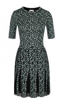 Хлопковое мини-платье с принтом M Missoni
