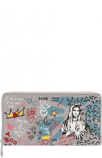 Кожаное портмоне с принтом Dolce & Gabbana