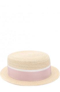 Соломенная шляпа Auguste с лентой Maison Michel
