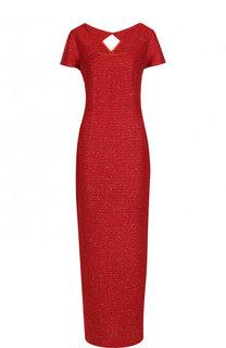 Вязаное платье-макси и высоким разрезом St. John
