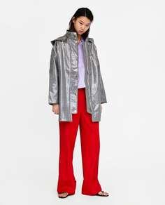 Непромокаемый тренч в клетку Zara