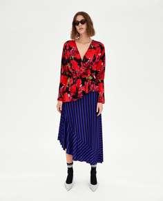 Блуза с цветочным принтом Zara