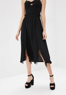 Юбка LOST INK LACE INSERT MIDI