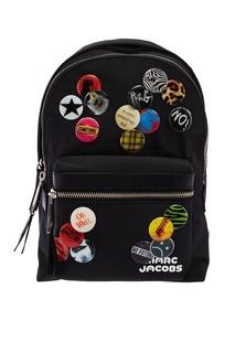 Текстильный рюкзак со значками Marc Jacobs
