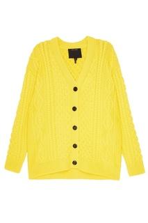 Желтый кардиган из шерсти Marc Jacobs