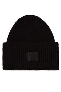 Черная шапка в рубчик Acne Studios