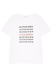Хлопковая футболка с логотипами Altuzarra