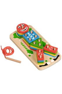 Клоун сортер-пирамидка Игрушки из дерева