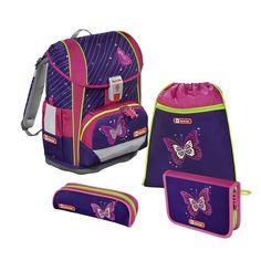 Ранец Step By Step Light2 Shiny Butterfly фиолетовый/розовый 4 предмета [00138961]