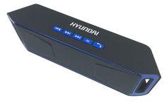 Колонки Hyundai H-PAC140 1.0 черный/синий 6Вт беспроводные BT