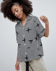 Oversize-рубашка с принтом Stussy - Мульти