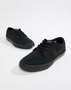 Черные кроссовки Nike SB Portmore II Solar 880266-005 - Черный