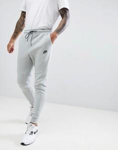 Серые флисовые джоггеры Nike Tech 805162-063 - Серый