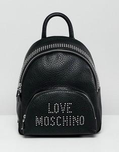 Рюкзак с логотипом и заклепками Love Moschino - Черный