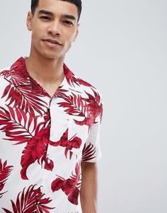 Рубашка с короткими рукавами и тропическим принтом Only & Sons - Розовый