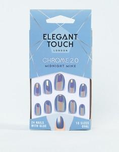 Накладные ногти Elegant Touch Chrome Collection 2.0 Midnight Minx - Синий