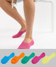 Набор из 5 пар невидимых носков ASOS DESIGN - Скидка - Мульти
