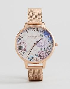 Часы с цветочным принтом Olivia Burton OB16EG86 Glasshouse - Золотой