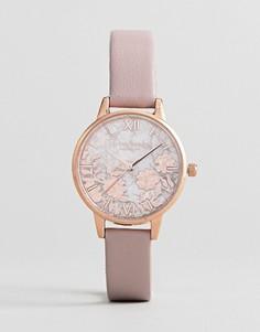 Часы с розовым ремешком и полудрагоценными камнями Olivia Burton OB16MV84 - Розовый