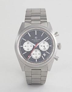 Серебристые часы-браслет с хронографом Accurist 7216 - Серебряный