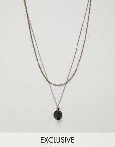 Ожерелье с подвеской-монетой Reclaimed Vintage эксклюзивно на ASOS - Золотой