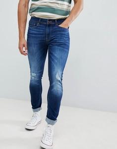 Выбеленные джинсы скинни Burton Menswear - Синий