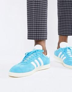 Синие замшевые кроссовки adidas Originals Gazelle B37945 - Синий