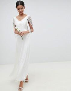 Платье макси с бахромой ASOS EDITION - Белый