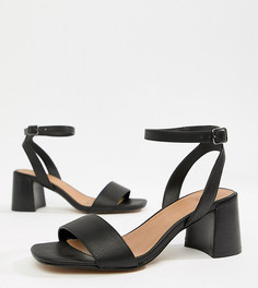 Босоножки на каблуке для широкой стопы ASOS DESIGN - Черный