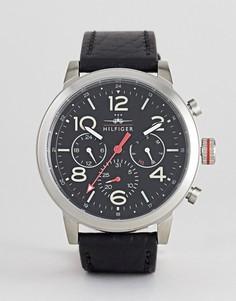 Часы-хронограф из нержавеющей стали с черным циферблатом Tommy Hilfiger Jake - Черный