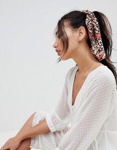 Головной платок со звериным принтом ASOS DESIGN - Мульти
