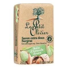 LE PETIT OLIVIER Мыло нежное питательное с маслом сладкого миндаля 250 г