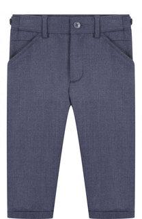 Шерстяные брюки прямого кроя с отворотами Loro Piana
