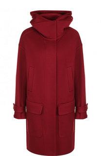 Кашемировое пальто с капюшоном и накладными карманами Loro Piana