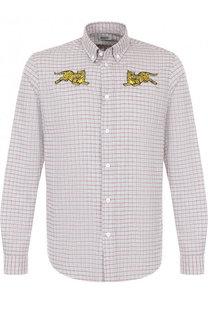 Хлопковая рубашка с воротником button down Kenzo